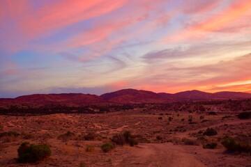 Beautiful Sunset In The Southern California Desert City Palmdale