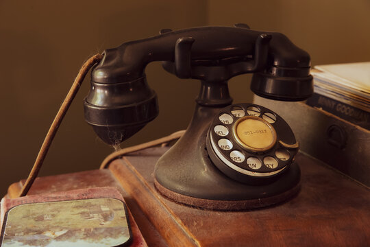 A Vintage Retro Antique Landline Phone in a house in Toronto, Canada.