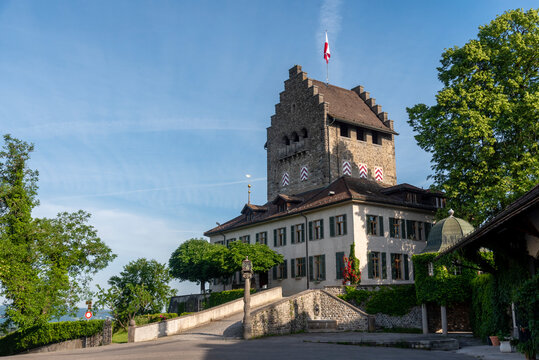 Uster Castle and surroundings on a clear summer morning