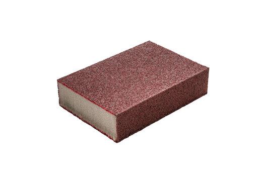 Emery sponge on isolated white background
