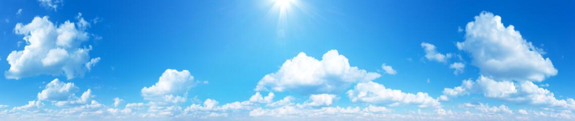 Fototapeta sunny sky background whith clouds obraz