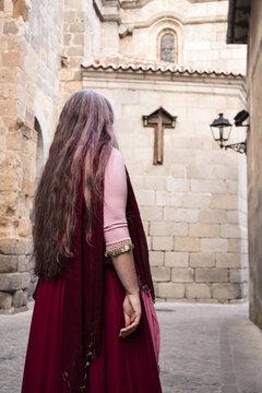 Medieval market and fair of Avila mood. September 2018
