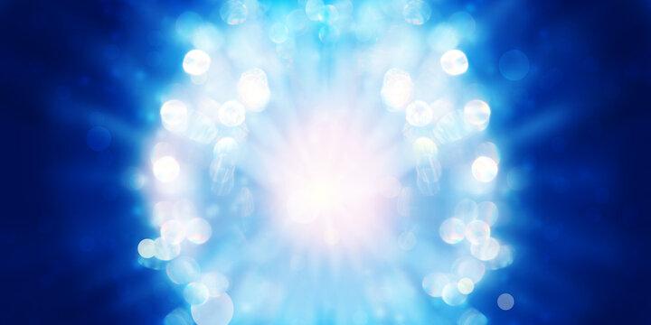 Banner kristallines Lichttor als Vorlage zur individuellen Gestaltung mit Textfreiraum