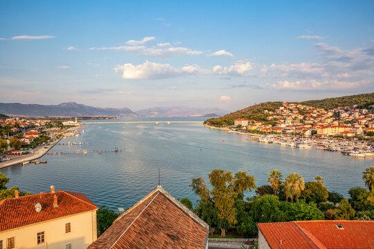 Croatia, Split-Dalmatia County, Trogir, View of bridge connecting island of Ciovo with city of Trogir