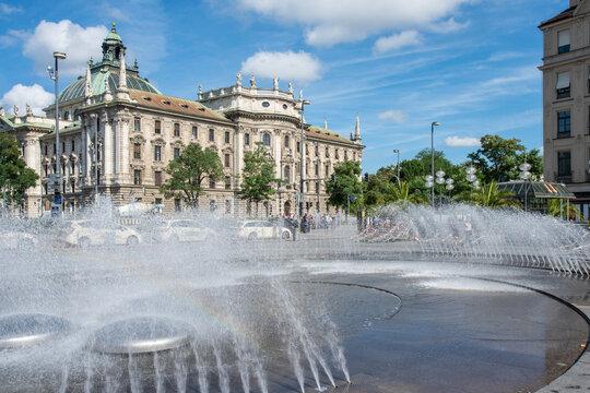 Karl's square with District Court Munich I Landgericht München I, Munich, Germany
