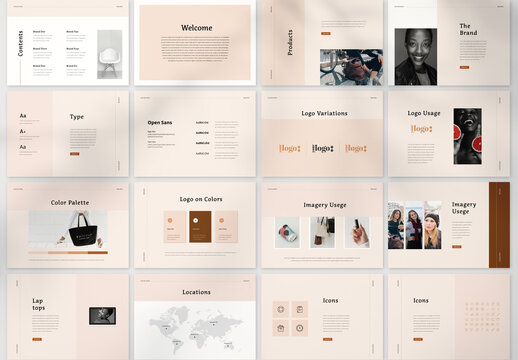 Brand IDentity Guidelines Brochure Layout
