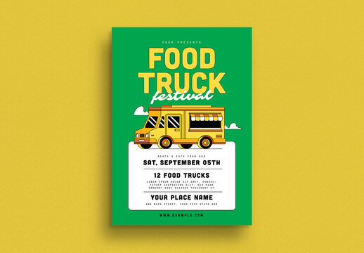Food Truck Festival Event Flyer Layout