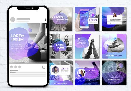 Gradient Forms Social Media Kit