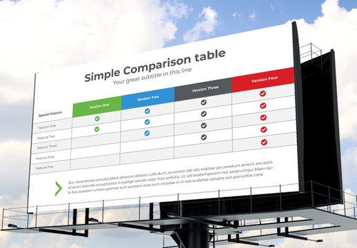 Simple Comparison Table
