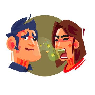 bad breath people - vector