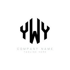 Fototapeta YWY letter logo design with polygon shape. YWY polygon logo monogram. YWY cube logo design. YWY hexagon vector logo template white and black colors. YWY monogram, YWY business and real estate logo.  obraz