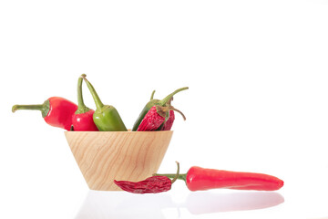 red hot chili peppers in a basket