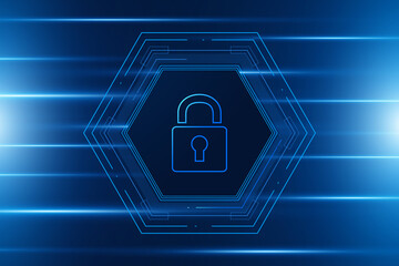 Cyber security technology concept , Shield With Keyhole icon , personal data , vector illustration  - fototapety na wymiar