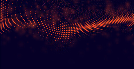 Obraz abstract particles background in red color - fototapety do salonu