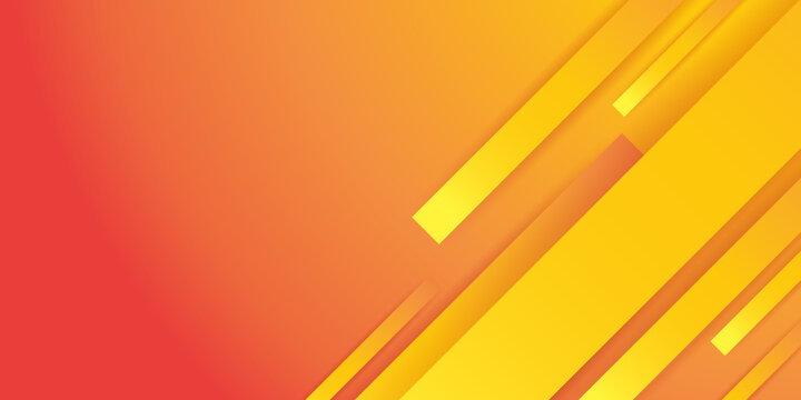 Orange abstract background with 3d geometric shapes. orange abstract geometric background with basic shapes. Abstract orange background. Geometric element design with gradient decoration.