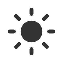 Sunny solid icon. - fototapety na wymiar