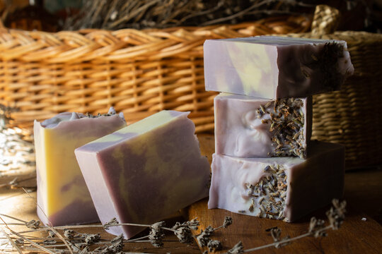 Photo of handmade Marcel soap with lavender