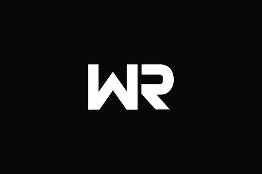 WR Letter Logo Design. Creative Modern W R Letters icon vector Illustration.