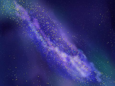 天の川と宇宙の背景