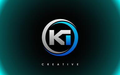 Obraz KI Letter Initial Logo Design Template Vector Illustration - fototapety do salonu