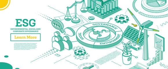 ESG Concept of Environmental, Social and Governance.