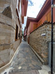 narrow street in the town