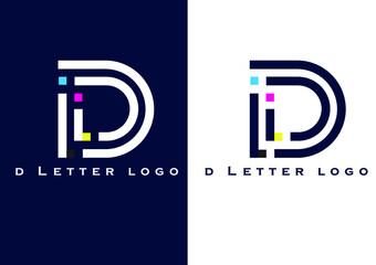 Fototapeta D Letter logo obraz