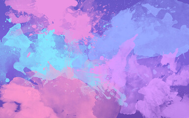Colorful paint splash background modern art concept
