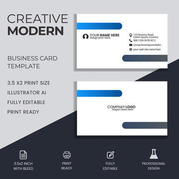 Modern business card template design. abstract. Two sided background. Vector illustration.