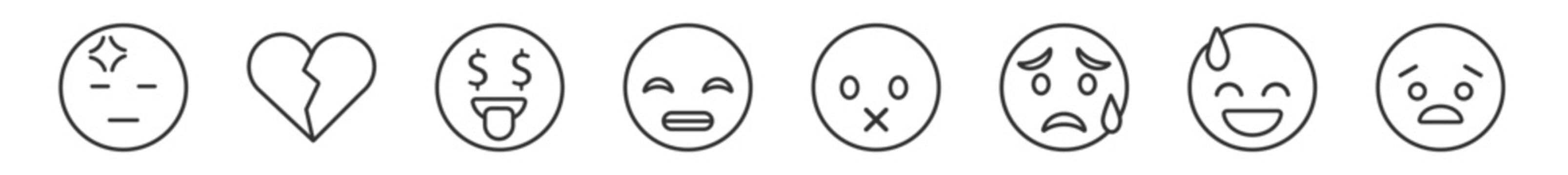 Heart emoji outline black Heart Outline