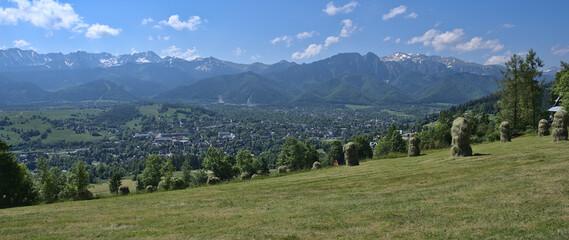 Fototapeta Panorama gór i miasta  obraz