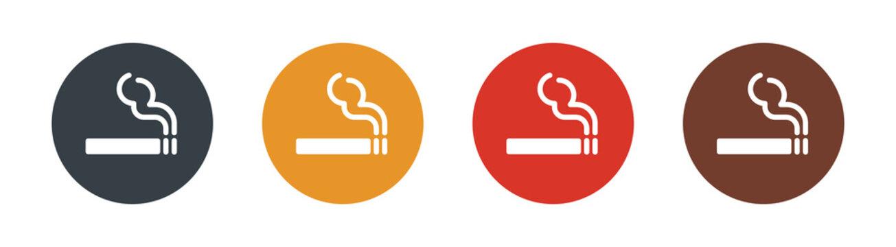 Smoking icon set . Vector illustration
