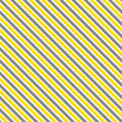 Illuminating yellow and ultimate gray seamless diagonal striped pattern, vector illustration. Seamless pattern with yellow and gray lines on white. Stripes geometric background