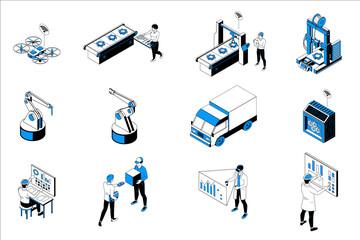 Smart Industry Isometric Set - fototapety na wymiar