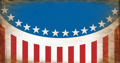 Composition of blue and red stars and stripes