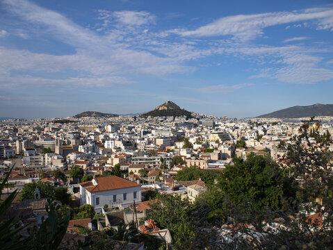 Lycabettus Hill from Anafiotika, Plaka