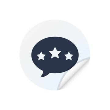 Customer Review - Sticker