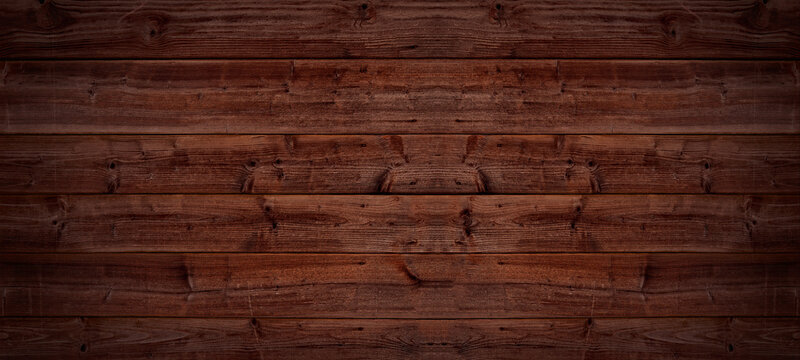 Old brown rustic weathred dark grunge wooden timber table wall floor board texture - wood background top view