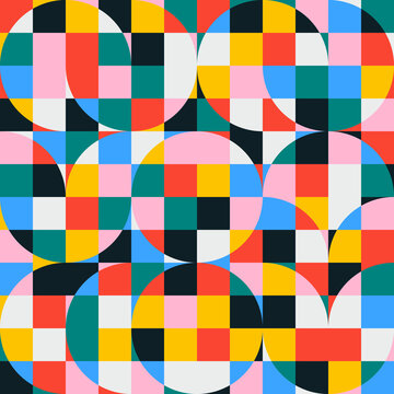 Repetitive Abstract Vector Pattern Design