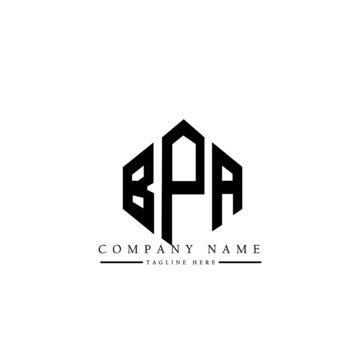 BPA letter logo design with polygon shape. BPA polygon logo monogram. BPA cube logo design. BPA hexagon vector logo template white and black colors. BPA monogram, BPA business and real estate logo.