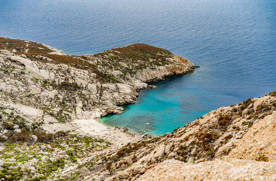 The Cala Santa Maria in the isle of Montecristo, in the Tyrrhenian Sea and part of the Tuscan Archipelago. It's a state nature reserve and inspired Alexandre Dumas' novel l The Count of Monte Cristo.