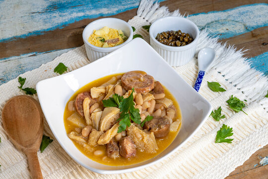 Dobradinha, a traditional portuguese and brazilian  dish made from a cow s flat white stomach
