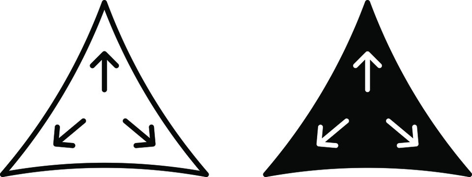 3 way stretch icon ,vector illustration