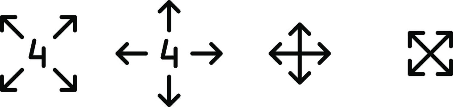 4 way stretch icon ,vector illustration