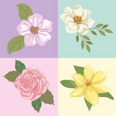 four garden icons