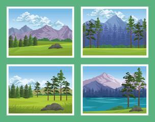 four wanderlust scenes