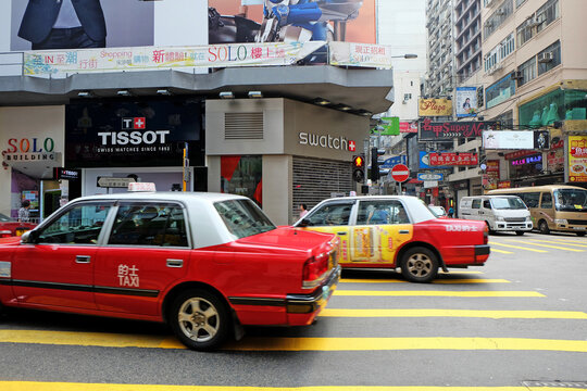 Tsim Sha Tsui street, One of the most popular tourist attaction contains Shopping Dining and financial area- Hong Kong