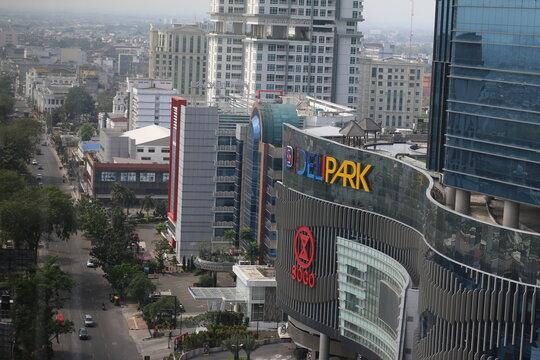 Deli Park at Medan city