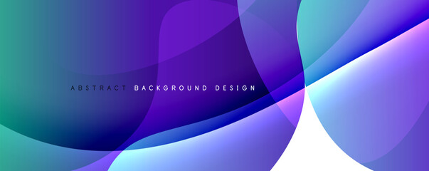 Obraz Trendy simple fluid color gradient abstract background with dynamic wave line effect. Vector Illustration For Wallpaper, Banner, Background, Card, Book Illustration, landing page - fototapety do salonu