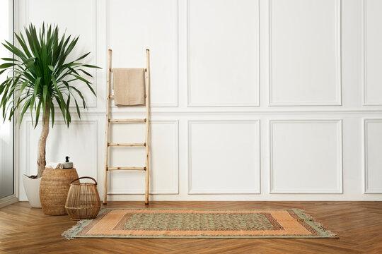 Living room in Japandi interior design
